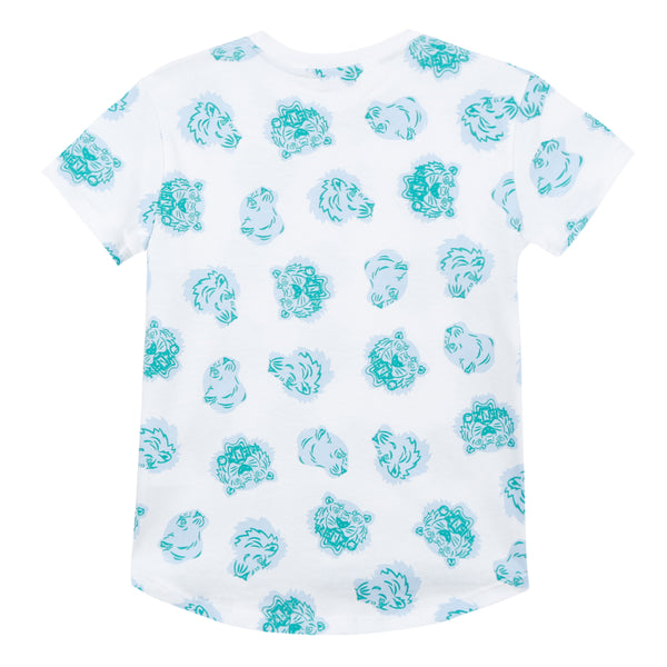 Boys Optic White Printed Cotton T-shirt