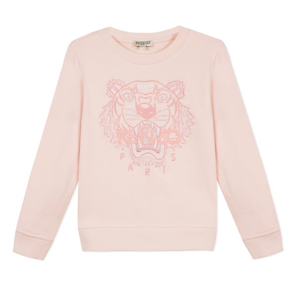 Girls Light Pink Cotton Sweatshirt