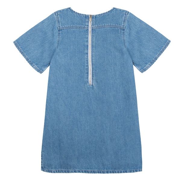 Girls Indigo Denim Dress