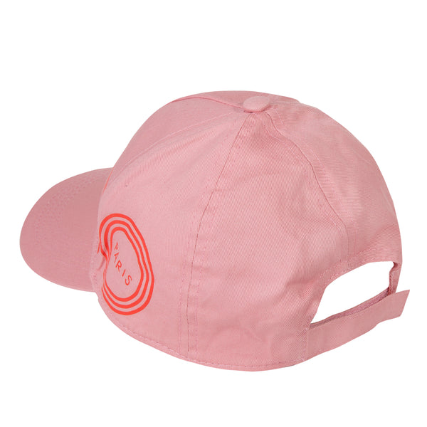 Girls Middle Pink Logo Cotton Hat