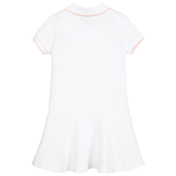 Girls Optic White Cotton Dress