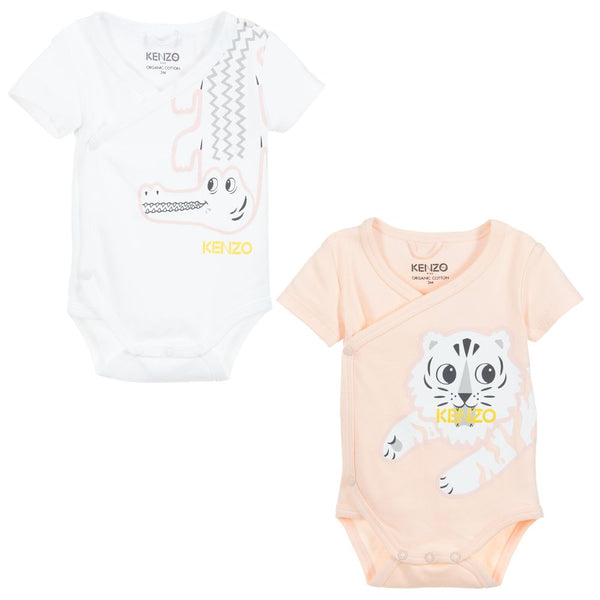 Baby Girls White & Pink Cotton Sets