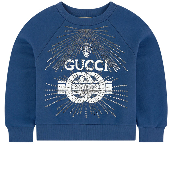 Boys Blue & White Cotton Sweatshirt