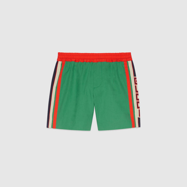 Boys Green Cotton Shorts