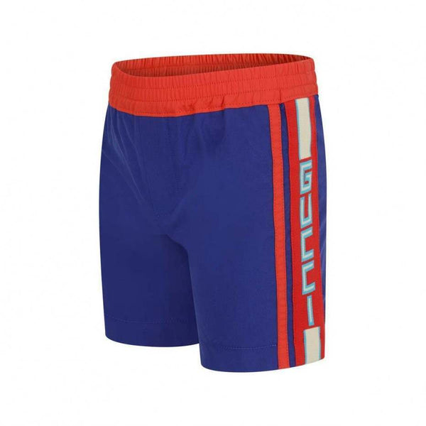 Boys Blue & Orange Shorts