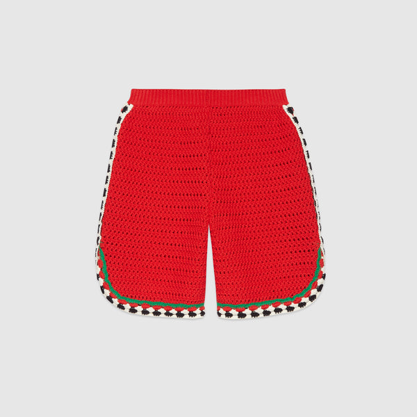 Girls Red Lace Shorts