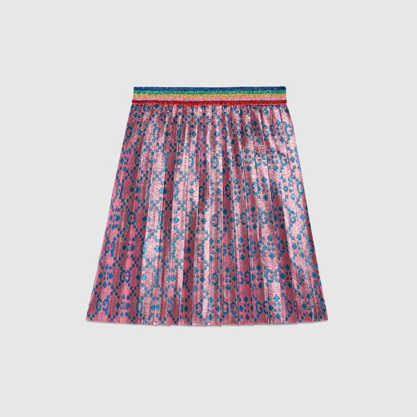 Girls Pink & Cyan Skirt