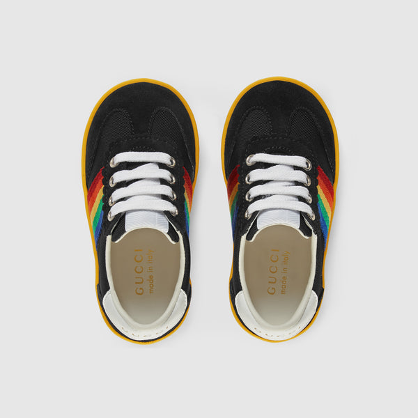 Baby Boys Black & Chromatic Stripes Shoes