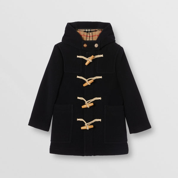 Boys Navy Wool Coat