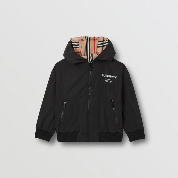 Boys Black Logo Jacket