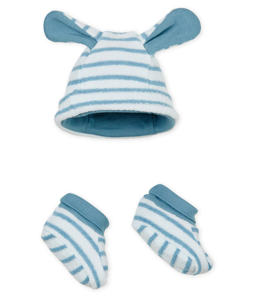 Baby Boys Blue Hat & Shoes Sets