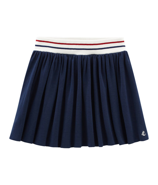 Girls Blue Cotton Skirt