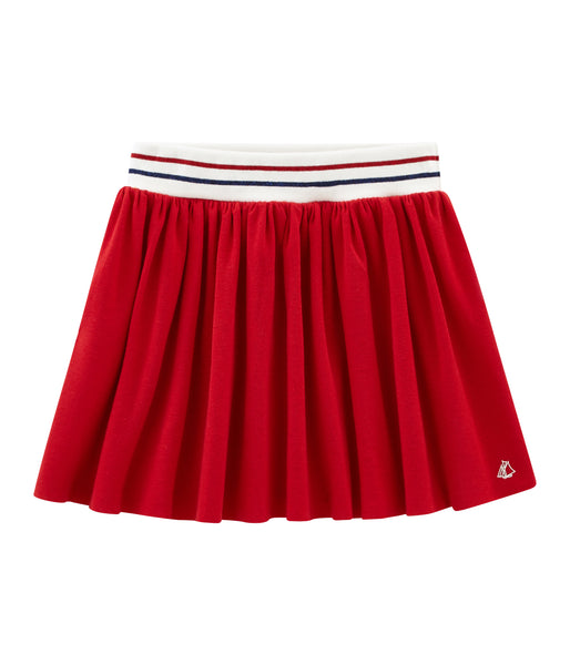 Girls Red Cotton Skirt