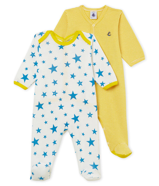 Baby Boys & Girls Yellow & White Star Cotton Sets