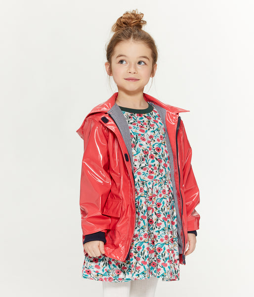 Girls Red Hooded Coat