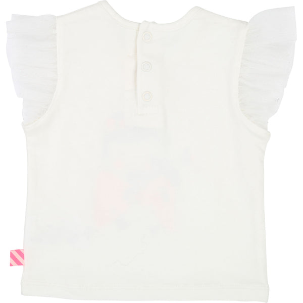 Baby Girls Rice White Cotton T-shirt