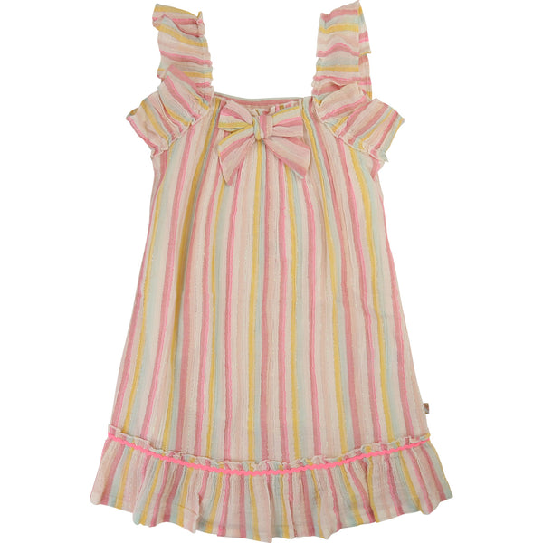 Girls Chromatic Striped Dress