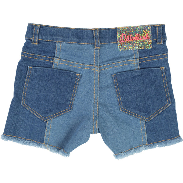 Girls Blue Denim Cotton Shorts