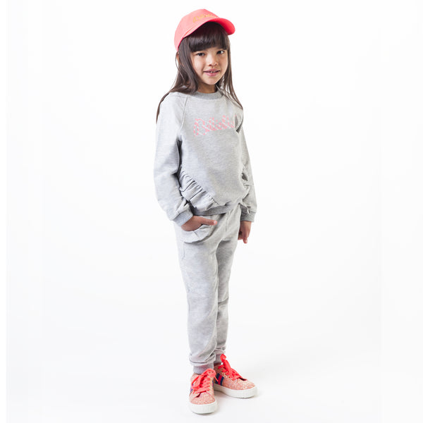 Girls Gray Cotton Trousers