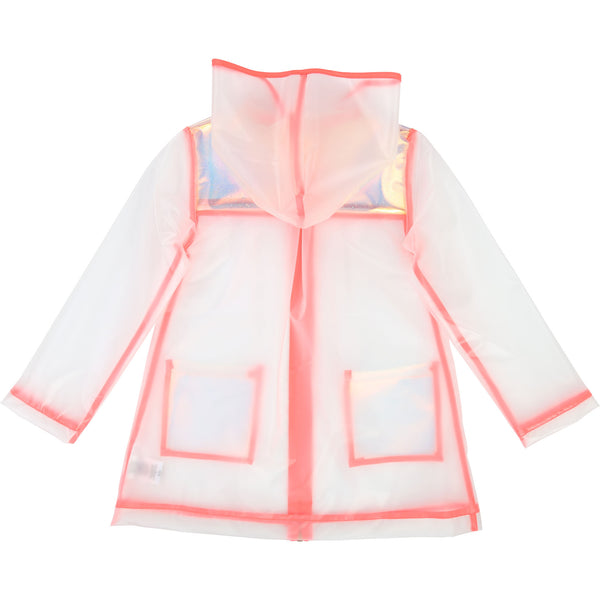Girls White & Pink Raincoat