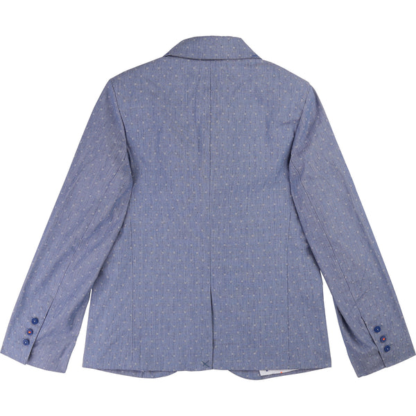 Boys Light Blue Cotton Coat