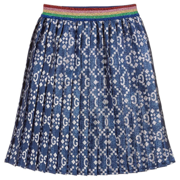 Girls Blue & Silver Skirt