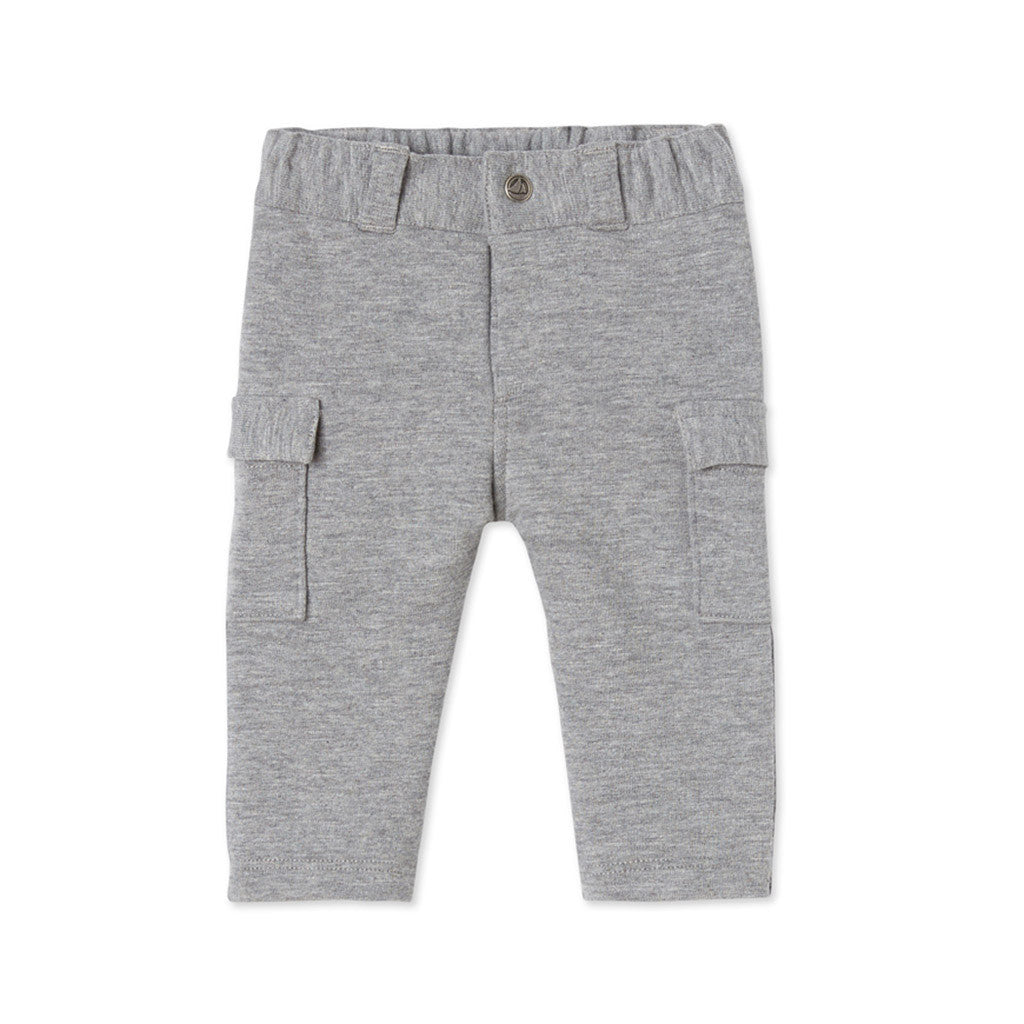 Gray Pants with Side Pockets