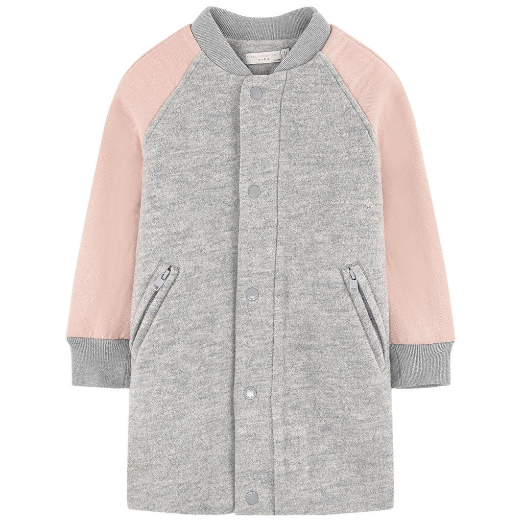 Renae Coat Gray with Pink