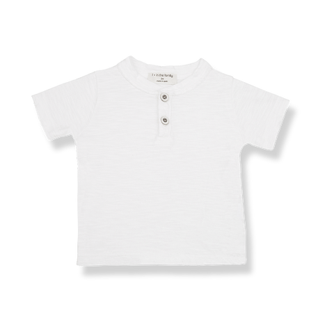 Ximo Short Sleeve T-Shirt in Off White