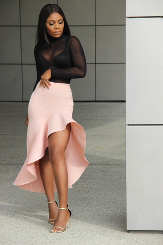BLUSH ASHLEY MIDI SKIRT