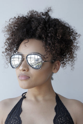 A lot Extra Sunglasses (SILVER/GREY)