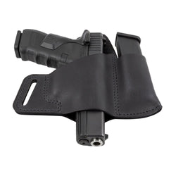 Comfort Carry Leather Holster & Mag Pouch Combo | Made In USA | Lifetime Warranty Holsters Black / Right Handed