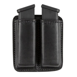 Leather 2 Magazine Holder | Made In USA | Lifetime Warranty | Fits virtually any 9mm, .40, .45 or .380 Pistol Mag | Single or Double Stack | IWB or OWB Tactical Accessories Double Stack / Black