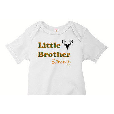 Little Brother Onesie<br> Deers and Camo - Moonbeam Baby