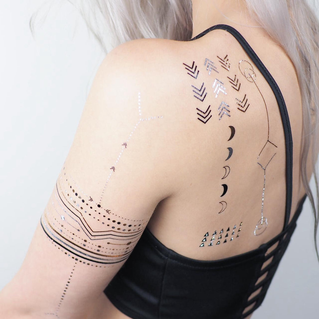 Geo Metallic Tattoos 3