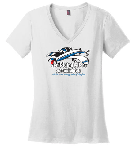 Race 53 Non Flying Fliers Association T-Shirt (Short Sleeve) Ladies V-Neck