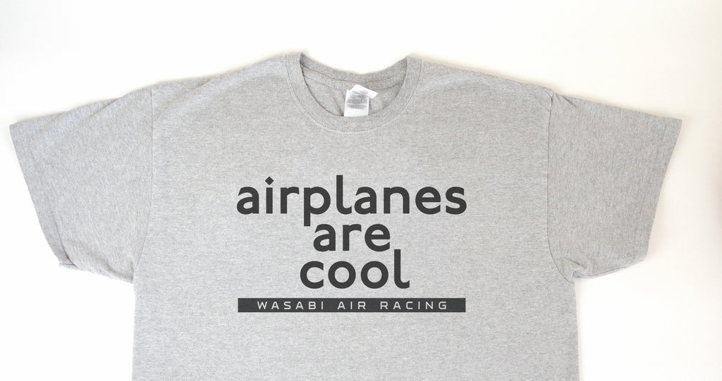 Wasabi Air Racing - Airplanes are Cool T-Shirt (Short Sleeve)