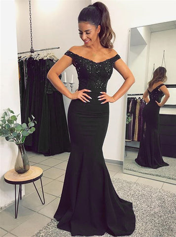 alinanova mermaid evening dresses 7013 black