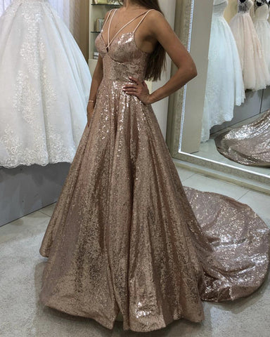 Image of Rose Gold Prom Dresses 2019