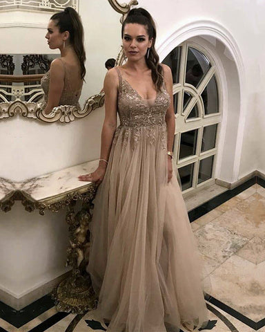 Image of Long-Tulle-Lace-Appliques-Prom-Dresses-2019