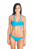 Kumiko Bikini top in Bright and viabrant color Ocean