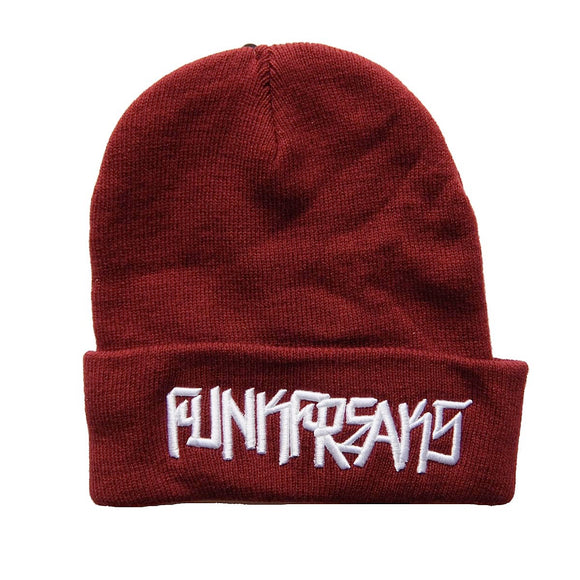 FUNK FREAKS CALIFORNIA ~ BURGUNDY Knit Ski Hat