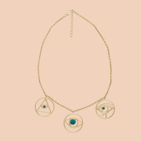 Gypseye Shai Silhouette Necklace - Turquoise