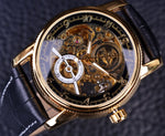 Hollow Engraving Skeleton Classic Golden Case Men Watches - FanFreakz
