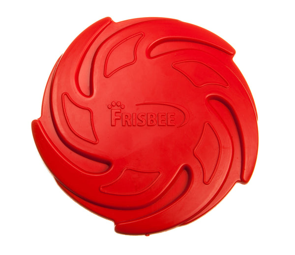 red frizbee dog flying disc toy