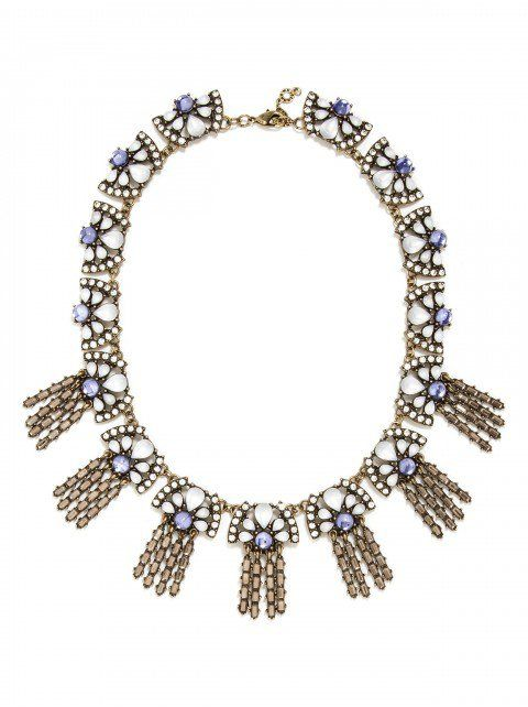 Alicia Crystal Collar Statement Necklace - Navya