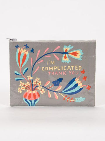 I am Complicated Thank You Zipper Pouch - Blue Q - Navya
