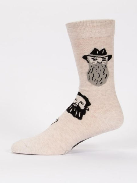 Men's Crew Socks - Get a Load of these Whiskers - Blue Q - Navya