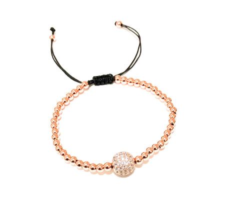 Glitter Ball Rose Gold Bracelet - Navya