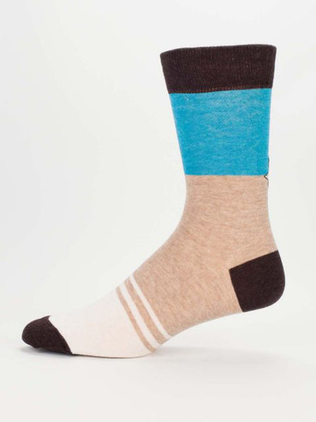 Men's Crew Socks - Mr. Perfect - Blue Q - Navya